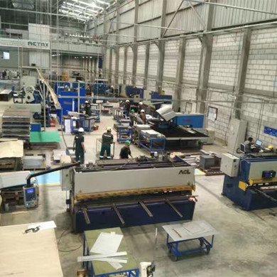 Press brake and shear for customer in PERU