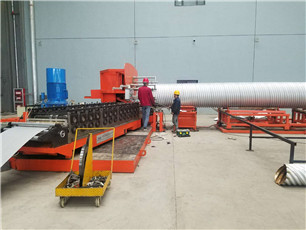 corrugated steel pipe manufacture line